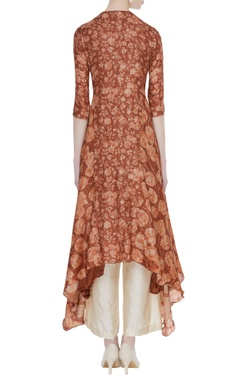 Tussar embroidered kurta with palazzos