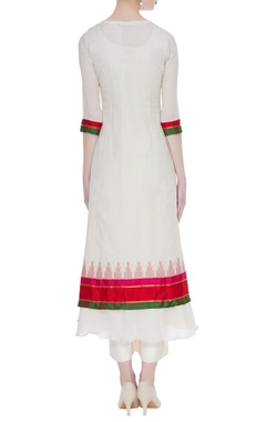 South cotton jacket with anarkali & pants