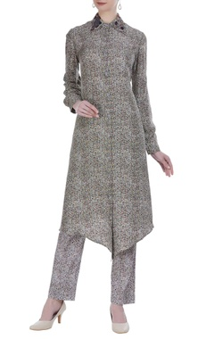 Anamika Khanna Button down printed kurta with pants