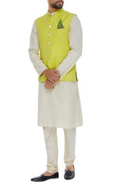 Matka silk nehru jacket set