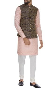 Thread embroidered nehru jacket