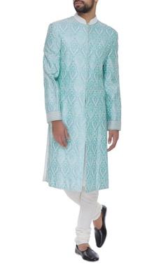 Barkha 'N' Sonzal Pearl embroidered sherwani set