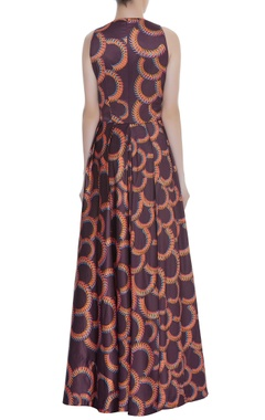 Printed scallop pattern Gown