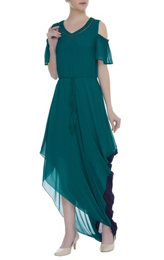 Cold Shoulder draped dress