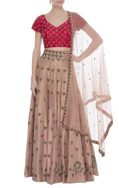Arpita Mehta Sequin & cutdana embroidered lehenga set