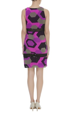 Printed Dress With Sequins Detailing
