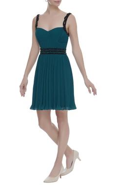 Arpan Vohra Backless Dress With Sequin Belt Detailing