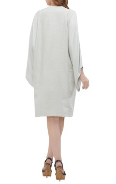 Embroidered shirt dress with inner