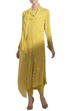 Hand Embroidered Kurta Set With Attached Dupatta
