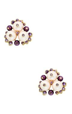 Isharya Empress warrior earrings in multicolored pearls