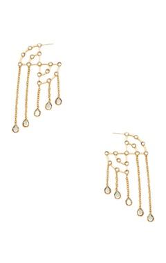 Isharya Long mirror hoop earrings