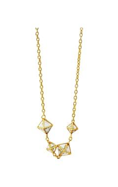 Isharya Pyramid mirror long necklace