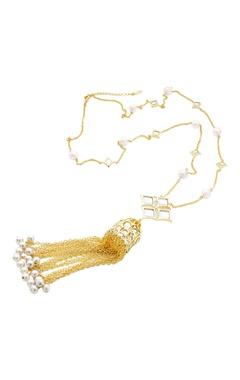 Celeste tassel detail long necklace