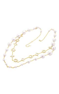 Celeste mirror long necklace