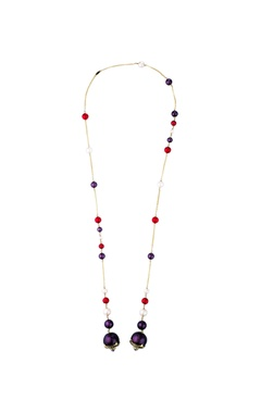 Isharya Empress warrior pearl lariat necklace