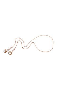 Isharya Lariat necklace with mirror work