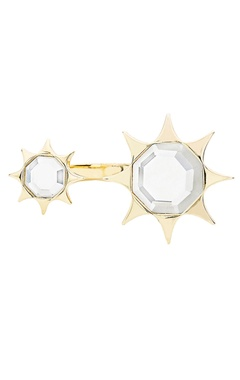 Angel dust double mirror ring