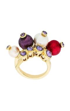 Empress warrior multicolored sabre ring