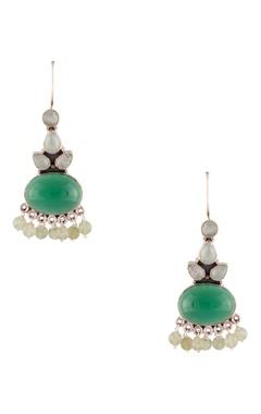 Onyx stone dangling earrings