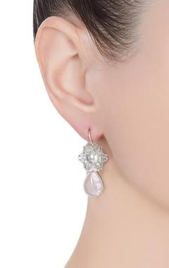 Rose floral filigree earrings