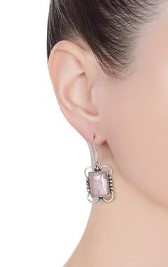 Geometric shape mini dangler earrings