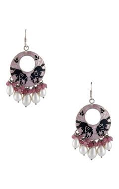 Meenakari elephant motif earrings