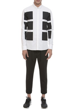 Panel style long sleeve shirt