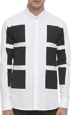 Panel style long sleeve shirt