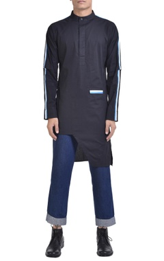 NoughtOne Stripe panel asymmetric kurta