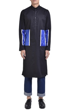 NoughtOne Color-block cotton kurta