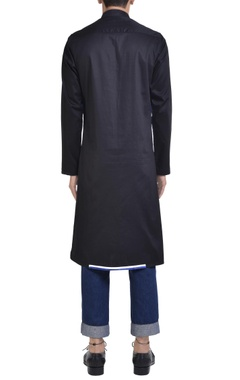 Color-block cotton kurta
