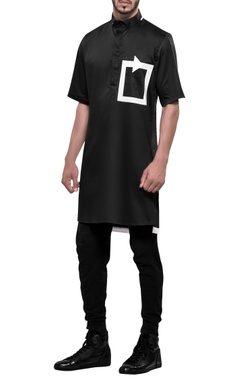 NoughtOne Tech-patterned short sleeve kurta