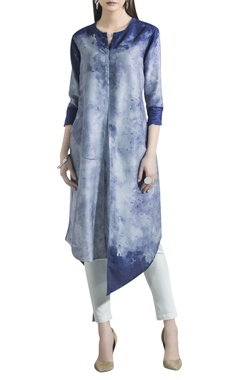 AM:PM Chanderi dyed kurta