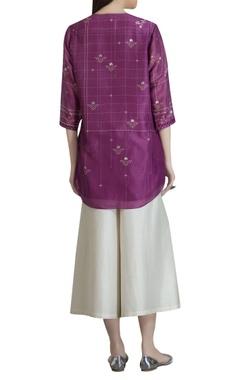 Chanderi floral printed tunic