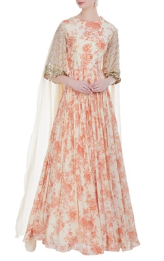Bhumika Sharma Printed floor length gown
