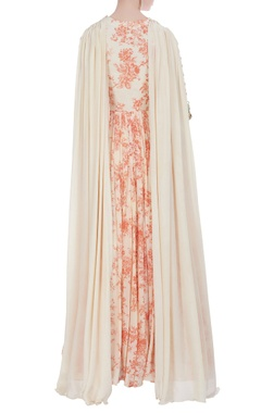 Printed floor length gown