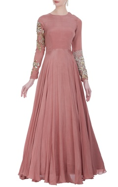 Bhumika Sharma Anarkali gown with embroidered sleeves