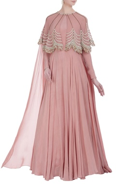 Bhumika Sharma Floor length gown with embroidered cape