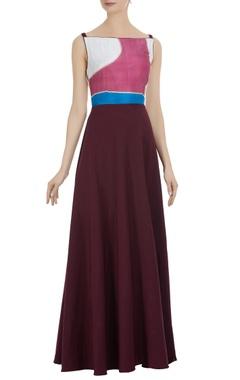 Spaghetti sleeves long maxi dress