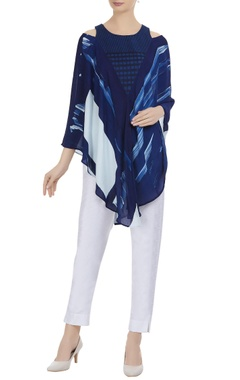 Attached jacket style tunic