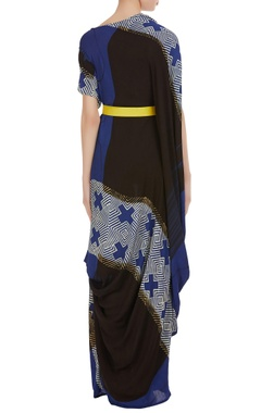 Maxi dress with cowl