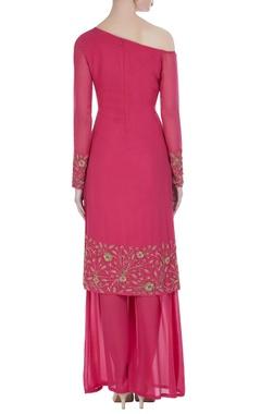Drop shoulder sleeves kurta with palazzos