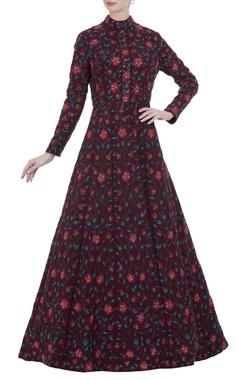 Nikhil Thampi Floor length floral embroidered gown