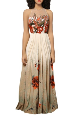 Reynu Taandon Embroidered & sequin maxi dress