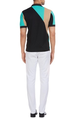 Colorblock cuban collar polo t-shirt