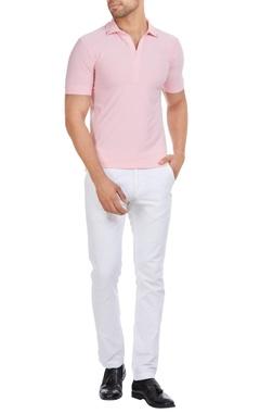 Shivan and Narresh - Men Italian jersey cuban collar t-shirt