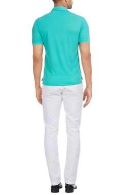Cuban collar italian jersey polo t-shirt