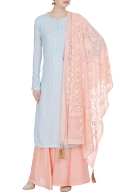 Matsya Pastel embroidered kurta with sharara set.