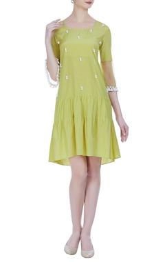 Drop-waist tiered style dress
