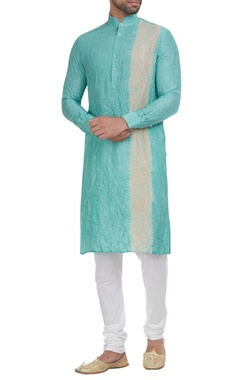 Shibori dyed kurta with churidar